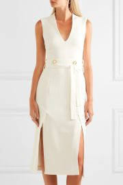 Rebecca Vallance   Beltr  n belted cutout crepe midi dress at Net A Porter