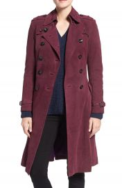 Rebecca Minkoff  Amis  Double Breasted Suede Trench Coat at Nordstrom