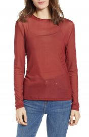 Rebecca Minkoff Cyder Sheer Top   Nordstrom at Nordstrom
