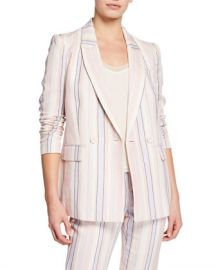 Rebecca Minkoff Grace Striped Double-Breasted Jacket at Neiman Marcus