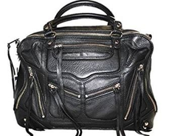 Rebecca Minkoff Jealous Tri Zip Leather Satchel Handbag Bag  Black at Amazon