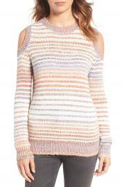 Rebecca Minkoff Page Stripe Cold Shoulder Sweater at Nordstrom