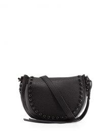 Rebecca Minkoff Pebbled Leather Studded Saddle Bag  at Neiman Marcus