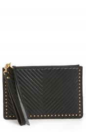 Rebecca Minkoff Quilted Leather Wristlet Pouch at Nordstrom