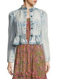 Rebecca Taylor - Denim Peplum Jacket at Saks Fifth Avenue