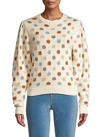 Rebecca Taylor - Dotted Wool-Blend Sweater at Saks Off 5th