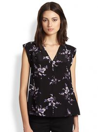 Rebecca Taylor - Floral-Print Silk Blouse at Saks Fifth Avenue