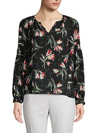 Rebecca Taylor - Floral Silk Blouse at Saks Off 5th