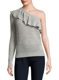 Rebecca Taylor - One-Shoulder Ruffle Sweater at Saks Fifth Avenue