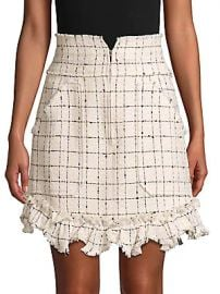 Rebecca Taylor - Plaid Mini Tweed Skirt at Saks Off 5th
