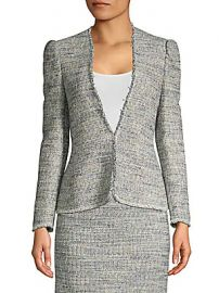Rebecca Taylor - Puff Sleeve Tweed Jacket at Saks Off 5th