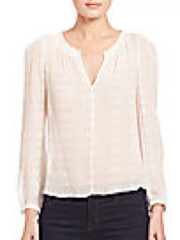 Rebecca Taylor - Silk Bar Clip Blouse at Saks Fifth Avenue