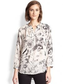 Rebecca Taylor - Silk Floral-Print Blouse at Saks Fifth Avenue