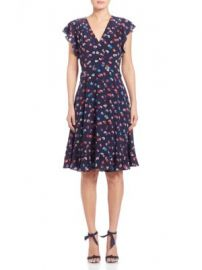Rebecca Taylor - Silk Sakura A-Line Dress at Saks Off 5th