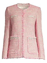 Rebecca Taylor - Tonal Fringe Tweed Jacket at Saks Fifth Avenue