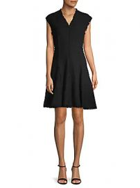 Rebecca Taylor - V-Neck Tweed Dress at Saks Off 5th