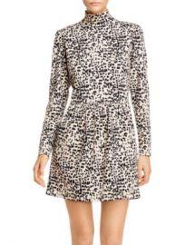 Rebecca Taylor Animal-Print Turtleneck Mini Dress Women - Bloomingdale s at Bloomingdales