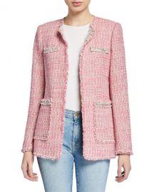 Rebecca Taylor Collarless Tweed Jacket at Neiman Marcus