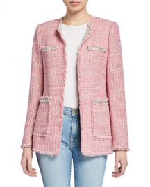 Rebecca Taylor Collarless Tweed Jacket at Neiman Marcus