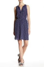Rebecca Taylor Criss Cross Silk Dress at Nordstrom Rack