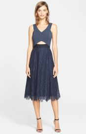 Rebecca Taylor Cutout A-Line Dress at Nordstrom