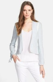 Rebecca Taylor Double Face Linen andamp Cotton Jacket at Nordstrom