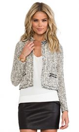 Rebecca Taylor Embellished Tweed Jacket in Cream from Revolve com at Revolve