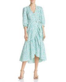Rebecca Taylor Emerald Ruffled Floral Wrap Dress Women - Bloomingdale s at Bloomingdales