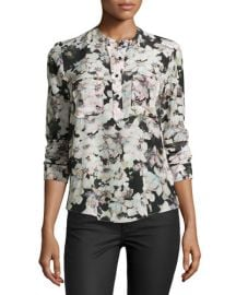 Rebecca Taylor Floral Blouse at Last Call
