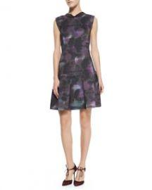 Rebecca Taylor Floral-Haze Mock-Neck Dress at Neiman Marcus