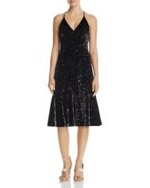 Rebecca Taylor Floral Velvet Slip Dress - 100  Exclusive at Bloomingdales
