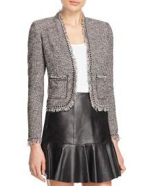Rebecca Taylor Fringe Tweed Jacket at Bloomingdales