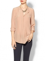 Rebecca Taylor Henley Blouse at Piperlime
