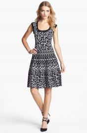 Rebecca Taylor Intarsia A-Line Dress at Nordstrom