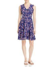Rebecca Taylor Kyoto Ruffled Trim Floral Print Silk Dress at Bloomingdales