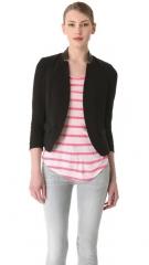 Rebecca Taylor Leather Trim Blazer at Shopbop