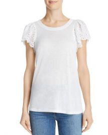 Rebecca Taylor Livy Lace-Trimmed Jersey Top Women - Bloomingdale s at Bloomingdales