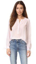 Rebecca Taylor Long Sleeve Box Clip Blouse at Shopbop