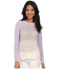 Rebecca Taylor Long Sleeve Ombre Pullover Color Combo at Zappos