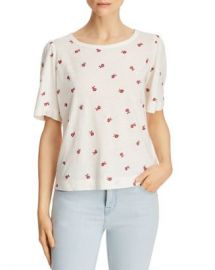Rebecca Taylor Marguerite Floral Embroidered Tee Women - Bloomingdale s at Bloomingdales