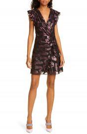 Rebecca Taylor Metallic Jacquard Silk Chiffon Dress   Nordstrom at Nordstrom