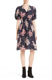 Rebecca Taylor Phlox Silk Midi Dress at Nordstrom