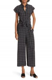 Rebecca Taylor Plaid Silk Jumpsuit at Nordstrom