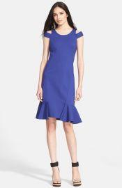 Rebecca Taylor Ponte Knit Off the Shoulder Dress at Nordstrom