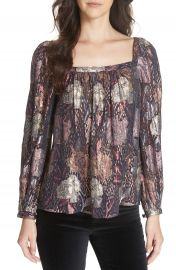 Rebecca Taylor Rose Clip Blouse at Nordstrom