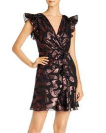 Rebecca Taylor Ruffled Cap Sleeve Jacquard Dress Women - Bloomingdale s at Bloomingdales