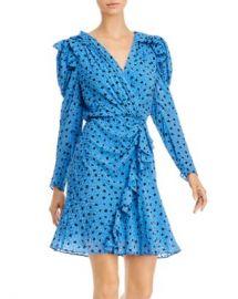 Rebecca Taylor Ruffled Dot-Print Faux-Wrap Dress Women - Bloomingdale s at Bloomingdales