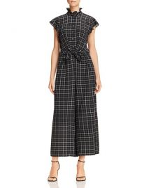 Rebecca Taylor Ruffled Plaid Silk Jumpsuit at Bloomingdales
