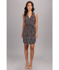Rebecca Taylor SL Leo Silk Dress SteelStealth GrayStealth Gray at 6pm