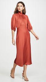 Rebecca Taylor Short Sleeve Satin Tie Dress at Shopbop